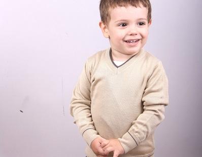 Child v-neck  sweater 1212372V3100H