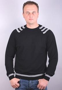 Man Sweater O-neck   black  whit stripe model 1314959C3720