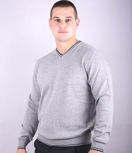 Spitz male sweater stripes of elastic