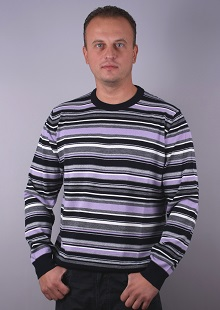 Man Sweater O-neck   whit stripe model 1114748C3750