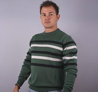 Man Sweater O-neck   whit stripe model 1114758C5730