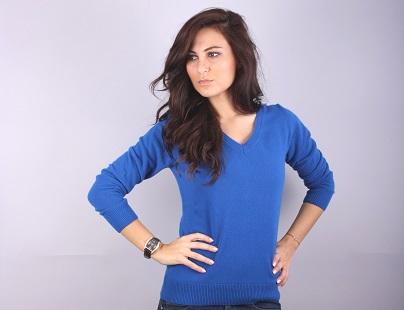 Дамски пуловер шпиц модел 1312267V3100