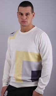 Мъжки пуловер бие модел 121429AC3750